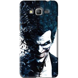 Snooky Printed Freaking Joker Mobile Back Cover For Samsung Galaxy Grand Max - Black