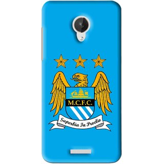 Snooky Printed Eagle Logo Mobile Back Cover For Micromax Canvas Spark Q380 - Blue