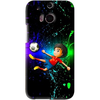 Snooky Printed High Kick Mobile Back Cover For HTC One M8 - Multi
