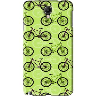 Snooky Printed Cycle Mobile Back Cover For Samsung Galaxy Note 3 neo - Green