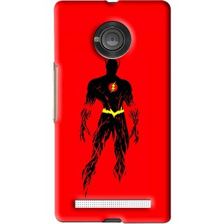 Snooky Printed Electric Man Mobile Back Cover For Micromax Yu Yuphoria - Red