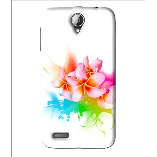 Snooky Printed Colorfull Flowers Mobile Back Cover For Lenovo A850 - Multi