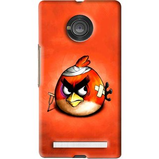 Snooky Printed Wouded Bird Mobile Back Cover For Micromax Yu Yuphoria - Red