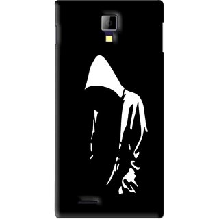 Snooky Printed Thinking Man Mobile Back Cover For Micromax Canvas Xpress A99 - Black