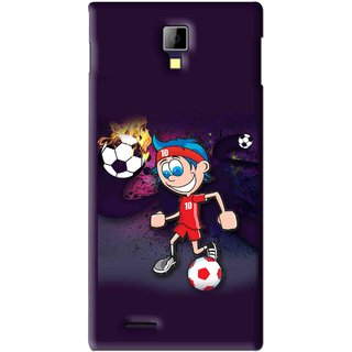 Snooky Printed My Game Mobile Back Cover For Micromax Canvas Xpress A99 - Puple