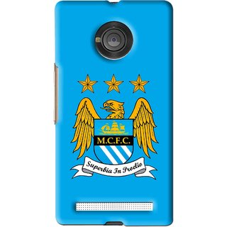 Snooky Printed Eagle Logo Mobile Back Cover For Micromax Yu Yuphoria - Blue