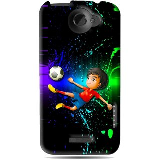 Snooky Printed High Kick Mobile Back Cover For HTC One X - Multi