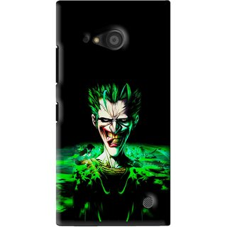Snooky Printed Daring Joker Mobile Back Cover For Microsoft Lumia 735 - Green