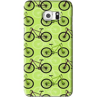 Snooky Printed Cycle Mobile Back Cover For Samsung Galaxy Note 5 - Green