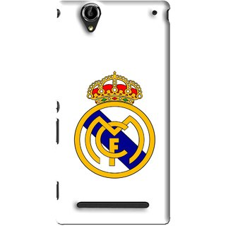 Snooky Printed Sports Logo Mobile Back Cover For Sony Xperia T2 Ultra - White