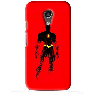 Snooky Printed Electric Man Mobile Back Cover For Moto G2 - Red