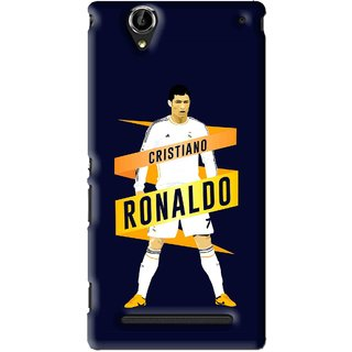 Snooky Printed Ronaldo Mobile Back Cover For Sony Xperia T2 Ultra - Blue
