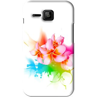 Snooky Printed Colorfull Flowers Mobile Back Cover For Micromax Bolt S301 - Multi