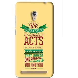 Snooky Printed Bravery Mobile Back Cover For Asus Zenfone 6 - Yellow