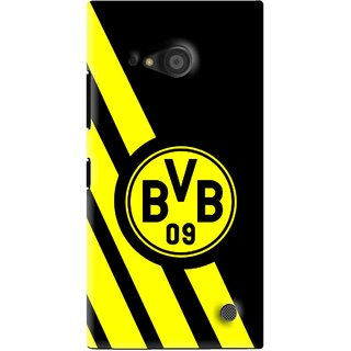 Snooky Printed Sports Logo Mobile Back Cover For Microsoft Lumia 735 - Black