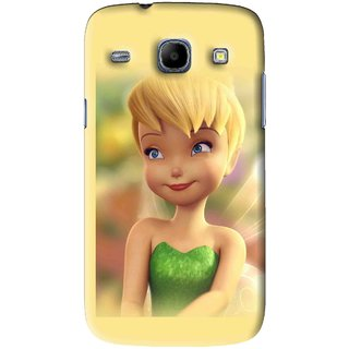 Snooky Printed Butterfly Girl Mobile Back Cover For Samsung Galaxy 8262 - Yellow