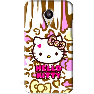 Snooky Printed Cute Kitty Mobile Back Cover For Meizu MX4 - Multi