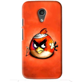 Snooky Printed Wouded Bird Mobile Back Cover For Moto G2 - Red