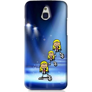 Snooky Printed Girls On Top Mobile Back Cover For Infocus M2 - Blue