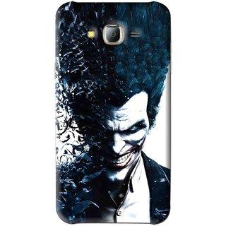 Snooky Printed Freaking Joker Mobile Back Cover For Samsung Galaxy J7 - Black