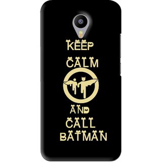 Snooky Printed Keep Calm Mobile Back Cover For Meizu M2 Note - Black