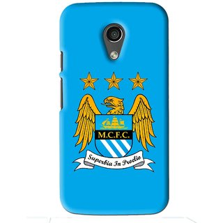 Snooky Printed Eagle Logo Mobile Back Cover For Moto G2 - Blue