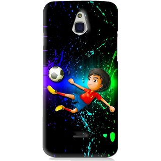 Snooky Printed High Kick Mobile Back Cover For Infocus M2 - Multi