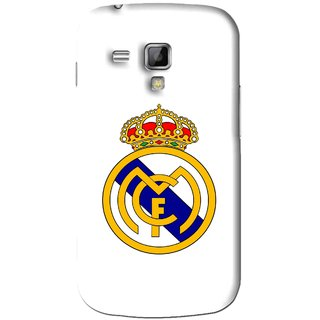 Snooky Printed Sports Logo Mobile Back Cover For Samsung Galaxy S Duos S7562 - White