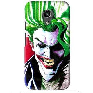 Snooky Printed Joker Mobile Back Cover For Moto G2 - Multi