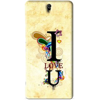 Snooky Printed Love You Mobile Back Cover For Sony Xperia C5 - Yellow