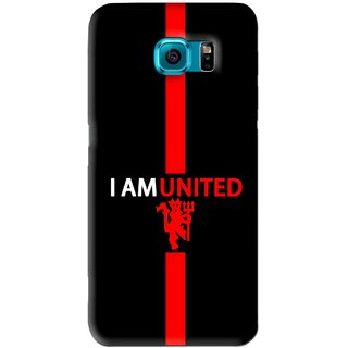 Snooky Printed United Mobile Back Cover For Samsung Galaxy S6 Edge - Black