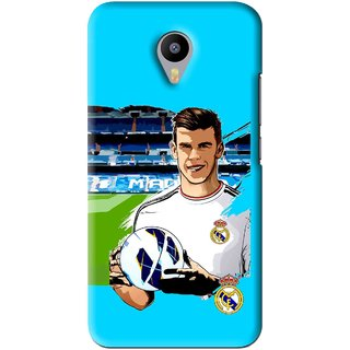 Snooky Printed Football Champion Mobile Back Cover For Meizu M2 Note - Blue