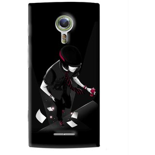 Snooky Printed Hep Boy Mobile Back Cover For Alcatel Flash 2 - Black