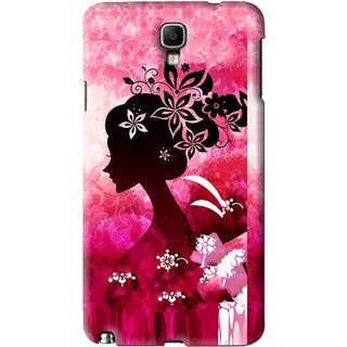 new style 707f8 639c3 Snooky Printed Pink Lady Mobile Back Cover For Samsung Galaxy Note 3 neo -  Pink