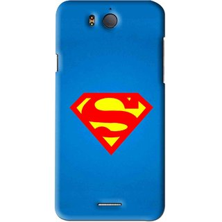 Snooky Printed Super Logo Mobile Back Cover For Infocus M530 - Blue