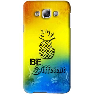 Snooky Printed Be Different Mobile Back Cover For Samsung Galaxy A7 - Multi