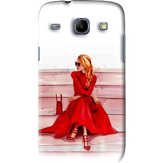 Snooky Printed Attitude Girl Mobile Back Cover For Samsung Galaxy 8262