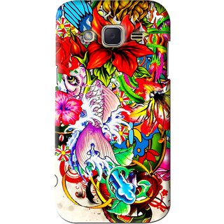 Snooky Printed Horny Flowers Mobile Back Cover For Samsung Galaxy j2 - Multi