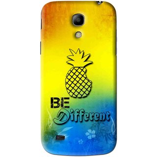 Snooky Printed Be Different Mobile Back Cover For Samsung Galaxy s4 mini - Multi