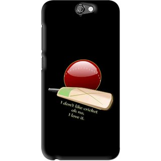 Snooky Printed Cricket Lover Mobile Back Cover For HTC One A9 - Black