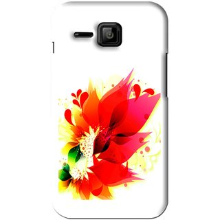 Snooky Printed Flowery Red Mobile Back Cover For Micromax Bolt S301 - White