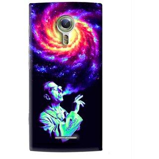 Snooky Printed Universe Mobile Back Cover For Alcatel Flash 2 - Multi
