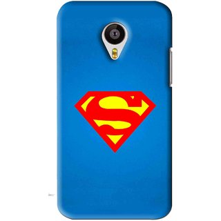 Snooky Printed Super Logo Mobile Back Cover For Meizu MX4 - Blue