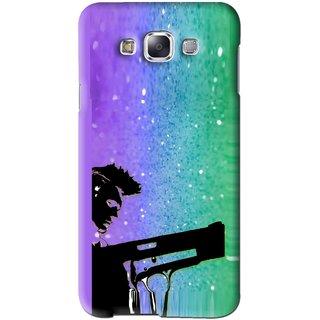 Snooky Printed Sparkling Boy Mobile Back Cover For Samsung Galaxy E7 - Multi