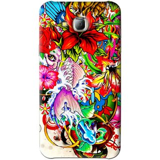 Snooky Printed Horny Flowers Mobile Back Cover For Samsung Galaxy J7 - Multi