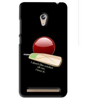 Snooky Printed Cricket Lover Mobile Back Cover For Asus Zenfone 6 - Black
