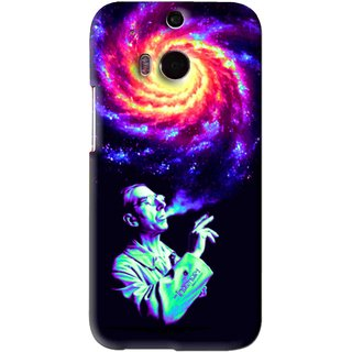 Snooky Printed Universe Mobile Back Cover For HTC One M8 - Multi