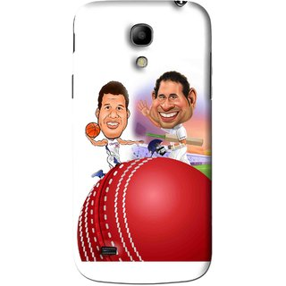 Snooky Printed Play Cricket Mobile Back Cover For Samsung Galaxy s4 mini - White
