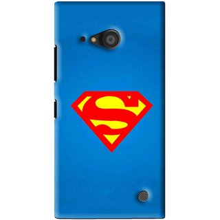 Snooky Printed Super Logo Mobile Back Cover For Microsoft Lumia 735 - Blue