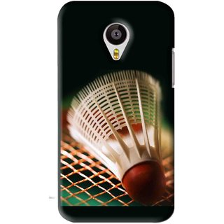 Snooky Printed Badminton Mobile Back Cover For Meizu MX4 - Black